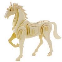 Объемный пазл лошадь из дерева